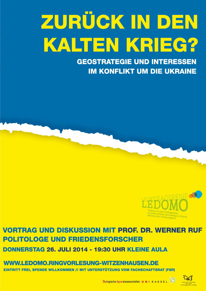 Ledomo – Vorlesungsreihe Universität Kassel, Fachbereich Ökologische Agrarwissenschaften. Plakatdesign