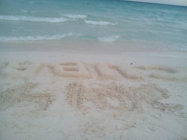 Cuba beach sand fun