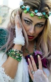 fashion headshot bride mermaid jewels