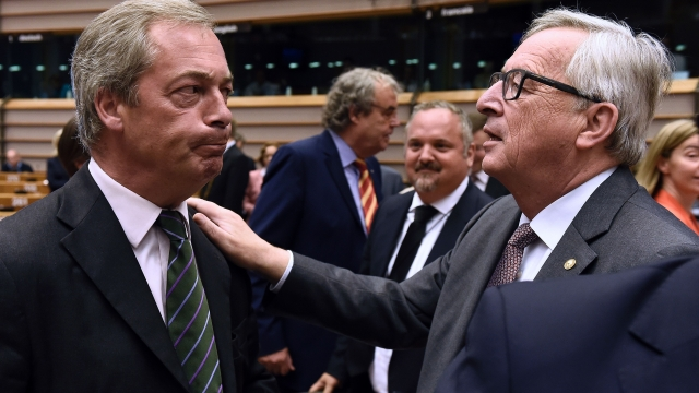 European Parliament gets spicy as Jean Claude Juncker asks Nigel Farage:  Why are you here?