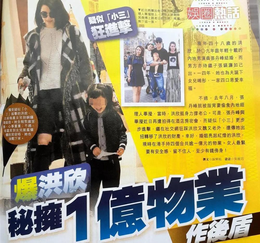 48歲洪欣并不怕離婚,她擁有四套總值億元香港房產,畢瀅搶不走