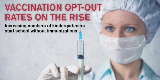 More kindergartners enter school without vaccines