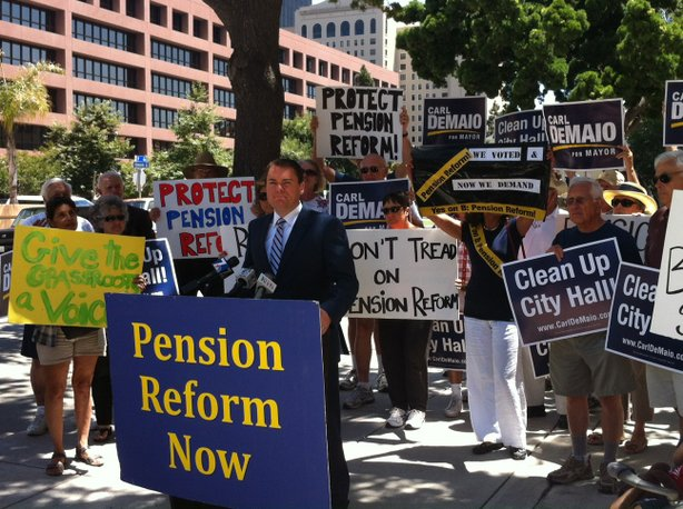 Carl DeMaio calls for implementation of Proposition B in 2012. The former councilman announced his candidacy for Congress last month. | Photo: KPBS