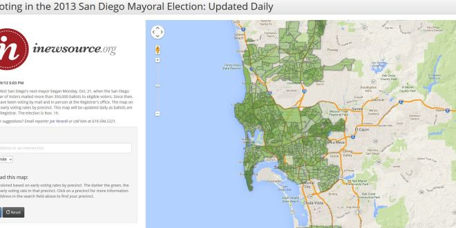 Early Voting in the 2013 San Diego Mayoral Election: Updated Daily