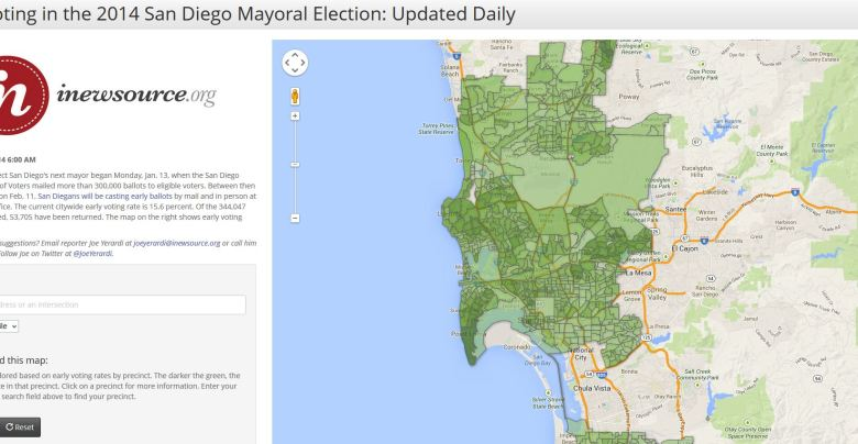 Early voting in the 2014 San Diego mayor's race