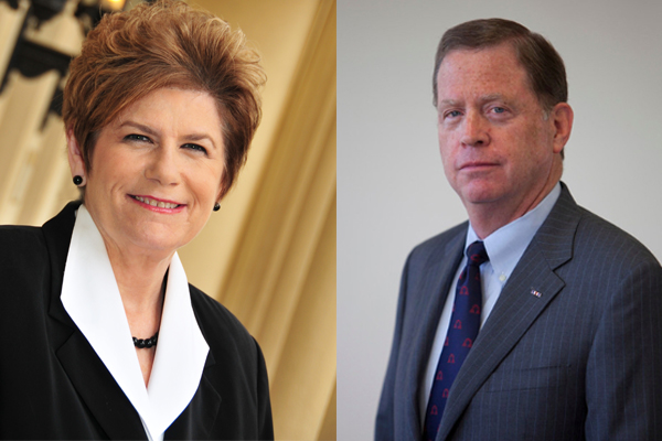 San Diego County District Attorney Bonnie Dumanis (l) and challenger Bob Brewer (r). Credit: courtesy photos.
