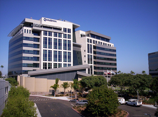 Qualcomm's headquarters in Sorrento Valley. Photo credit: Flickr user kelemenop under a Creative Commons license.