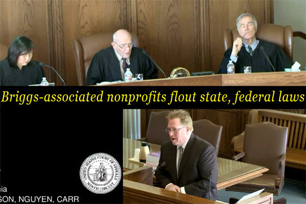 Briggs-associated nonprofits flout state, federal laws