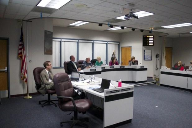 March 2014. Santee School District Board. Leo Castaneda/inewsource