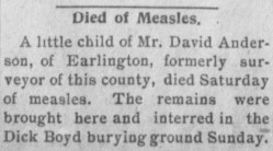 A story in the January 30, 1903 edition of the Hopkinsville (Kentucky) Kentuckian. Credit: Library of Congress.