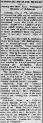 A story in the Oct. 6, 1911 edition of the Owosso (Mich.) Times. Credit: Library of Congress.