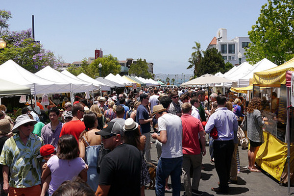 The Little Italy Farmer's Market is paid for in part from Business Improvement District fees. The money generated from the market goes toward improving the district. Photo by Chris Lee