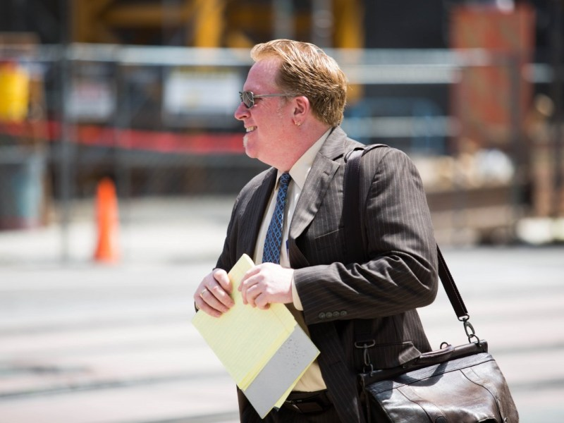 Cory Briggs leaves court in San Diego on July 31, 2015. Megan Wood/inewsource