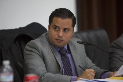 Antonio Martinez is the president of the San Ysidro School District board. Elected in 2012, he's the longest serving member of the current board. Megan Wood / inewsource
