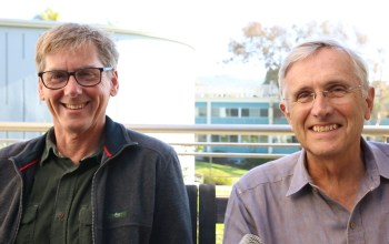 Professors Ralph Keeling and Ray Weiss, both geochemists at Scripps Institution of Oceanography, March 2016, Megan Wood, inewsourc