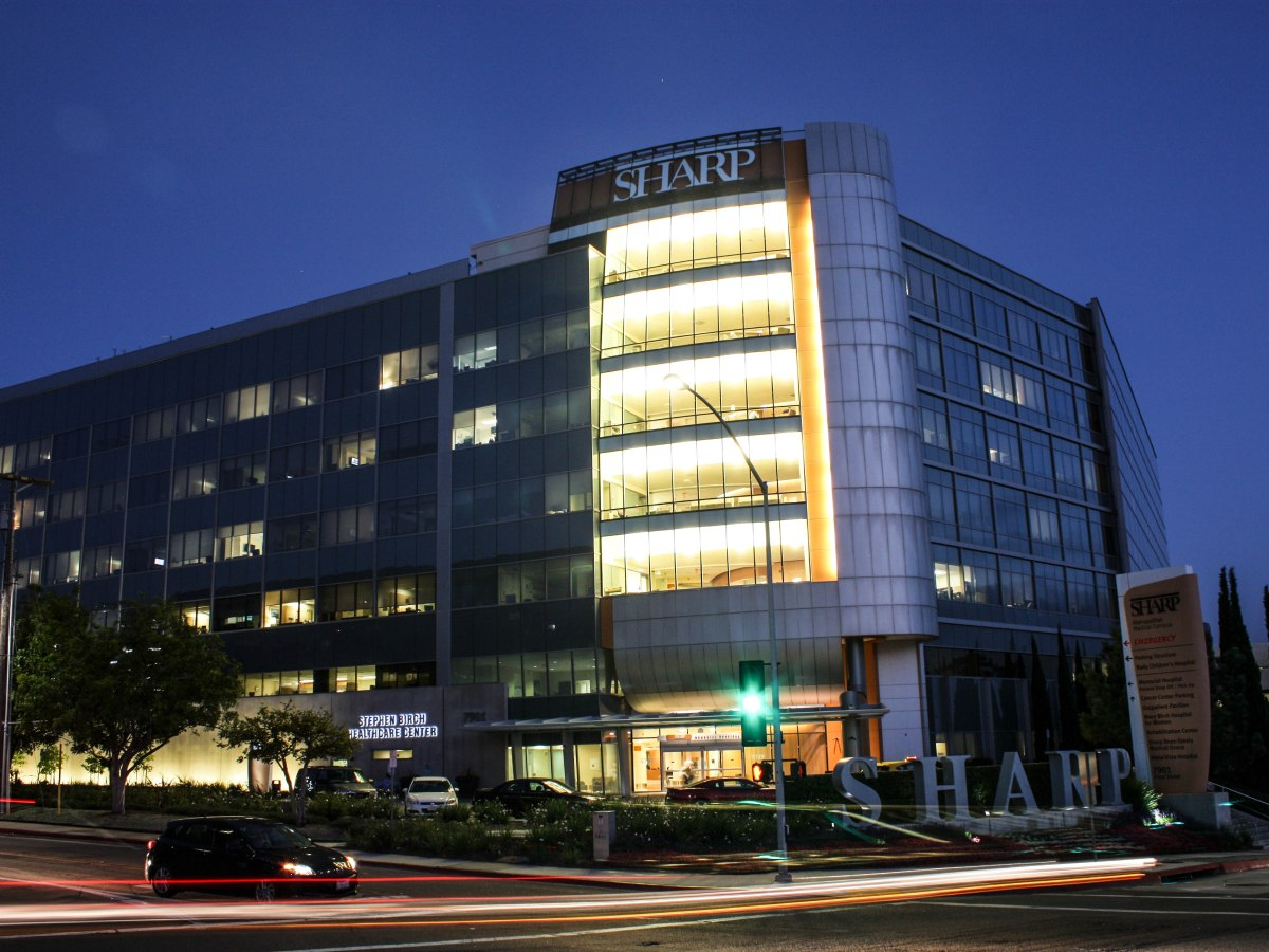 Sharp Memorial Hospital in Kearny Mesa is one of three hospitals in San Diego County to get a four-star rating on patient experience. The rating is based on patients' answers to questions that included whether it was quiet near their rooms at night. June 23, 2016. John Cannon, inewsource