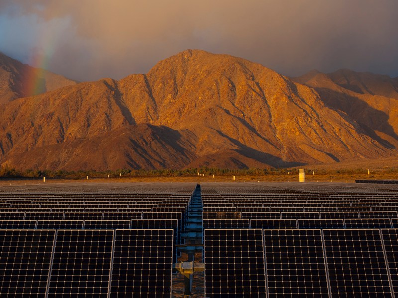 Eighteen percent of electricity distributed by SDG&E in 2015 came from solar. NRG Borrego Springs plant. Dec. 14, 2012, Jim Sulley