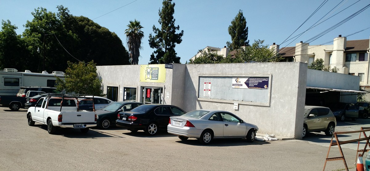 Lemon Grove Truck Body & Equipment is one of several body shops at 8373 and 8377 Broadway. They have received more air complaints than any other auto paint operations in recent years. July 21, 2016. Ingrid Lobet, inewsource.