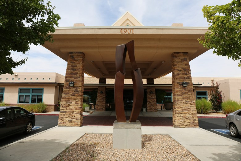 The entrance to the McAneny's oncology practice in Albuquerque. The location is one of seven offices using the Come Home Model. August 24, 2016. Megan Wood, inewsource.