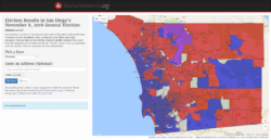 INTERACTIVE: Click here for a searchable map of precinct-level results from San Diego's November 8, 2016 presidential election.