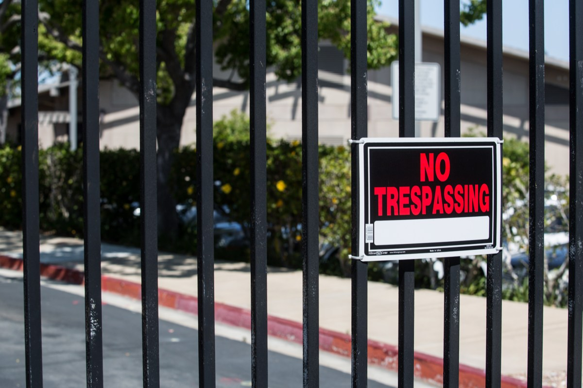 The entrance to what was the San Diego Hospice. Scripps Health recently sold the property to Houston-based developer Camden USA Inc. April 20, 2017. Megan Wood, inewsource.