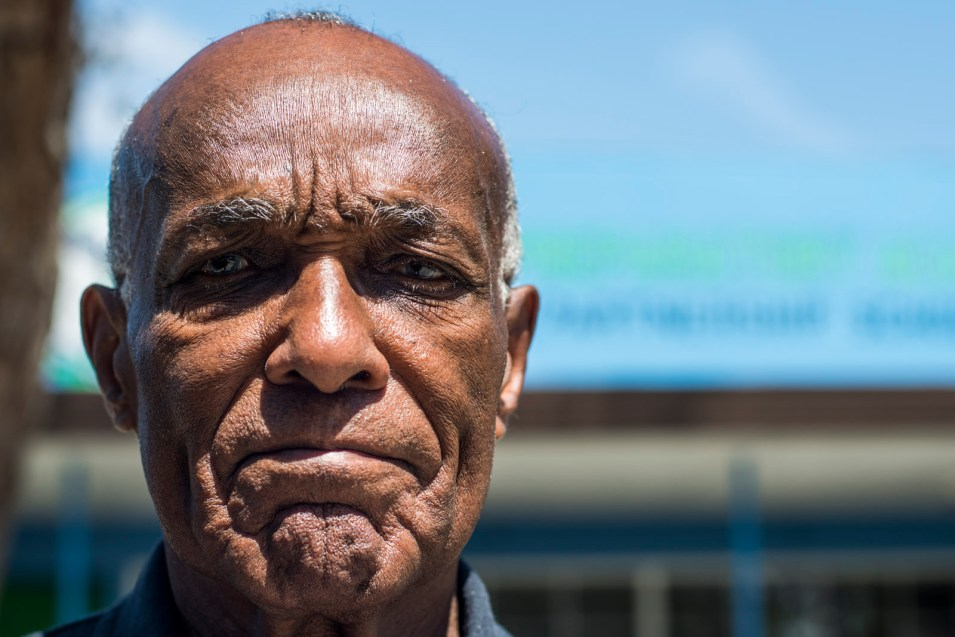 Cecil Steppe, Gompers Preparatory Academy founder and board chairman, poses for a portrait outside the school on May 11, 2017. Steppe discounted inewsource's data findings and interviews with 11 former teachers and students at the school, saying his focus is on serving this underrepresented community. Brandon Quester, inewsource