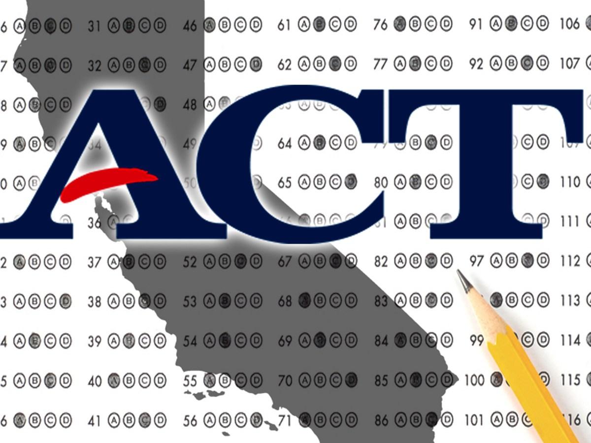 California ACT testing pass rates 2011-2016