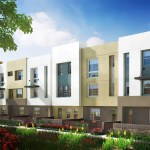 Southern California homebuilder City Ventures is marketing the all-electric and solar townhouse development in Chula Vista shown in this rendering. Courtesy City Ventures.