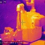 A normal gas meter as viewed by a FLIR thermal imaging camera, Oct. 8, 2017. Ingrid Lobet/inewsource
