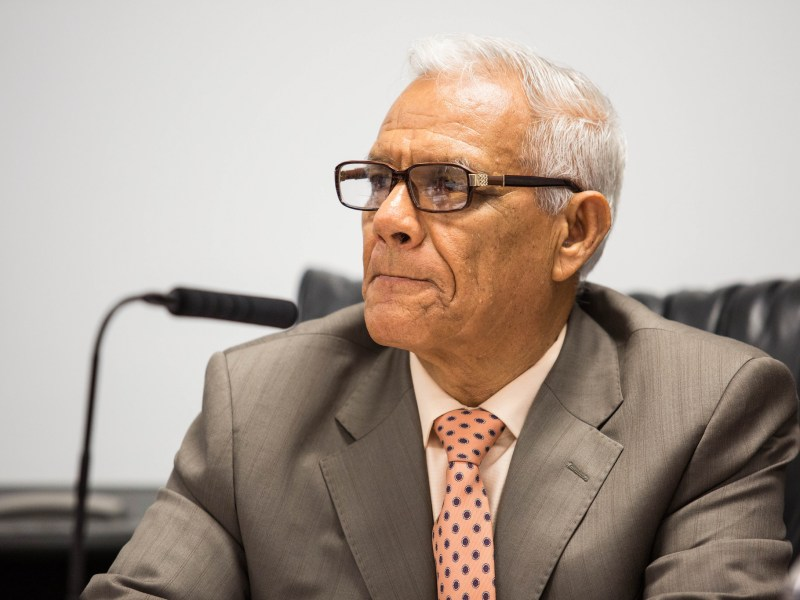 San Ysidro School District trustee Rodolfo Linares is seen at a board meeting in this undated photo. Megan Wood/inewsource