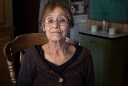 Ana Hayes is shown inside her El Cajon mobile home on Feb. 20, 2018. (Megan Wood/inewsource)