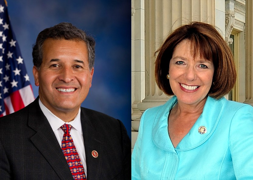 From left, Rep. Juan Vargas, D-San Diego, and Rep. Susan Davis, D-San Diego. Photo courtesy U.S. House of Representatives