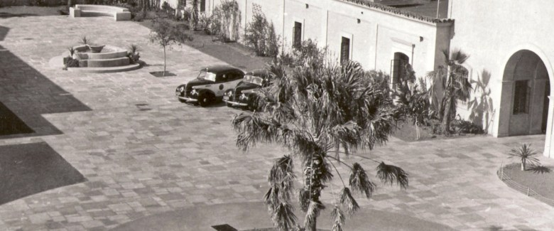 An undated photo of the Old Police Headquarters' courtyard. Courtesy: TheHeadquarters.com