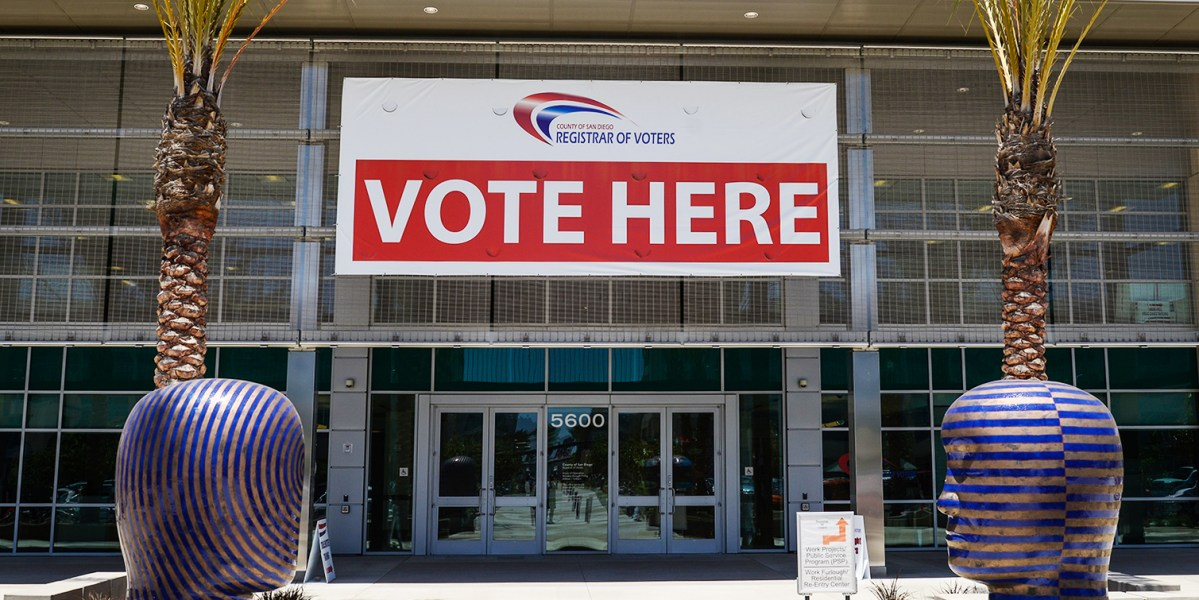 The San Diego County Registrar of Voters Office in Kearny Mesa, May 30, 2014. (Michael Schuerman)