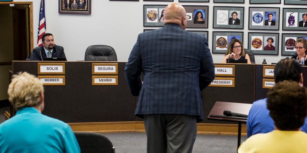 School trustee asked to be paid for missed board meeting. He was dining with Gavin Newsom.