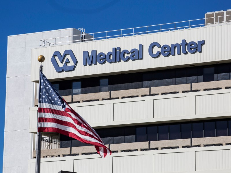 The outside of the San Diego VA Medical Center is shown on Nov. 2, 2018. (Megan Wood/inewsource)