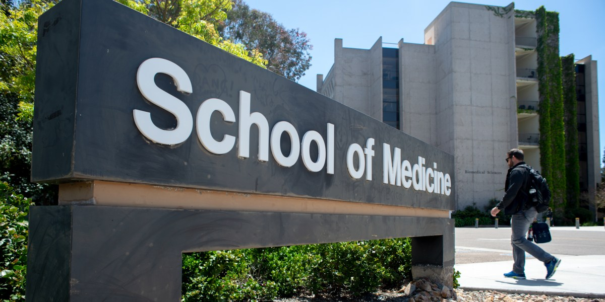 The UCSD School of Medicine campus is shown here on May 1, 2019.