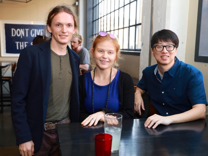VeriCrypt's corporate officers, shown from left, are Grant Nelson, Tamara Zubatiy and Robert Park.