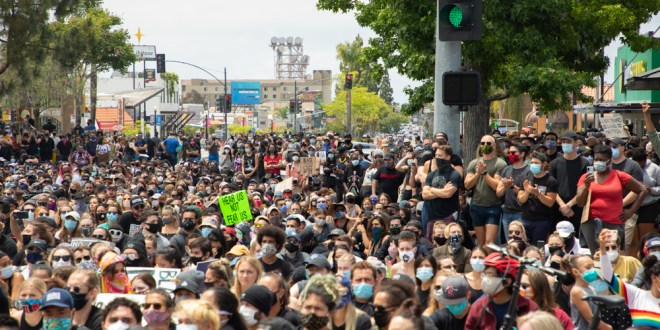 Photos: San Diego demonstrators raise their voices to protest police violence
