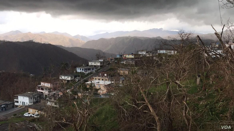 View of neighborhood damaged by Hurricane Maria in San Juan, Puerto Rico, Oct. 3, 2017. (Photo: C. Mendoza / VOA)