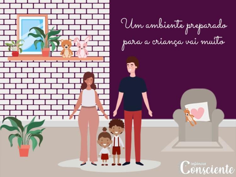 Um ambiente preparado para a criança vai muito além do espaço físico