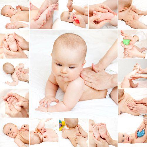 Arco Iris comienza el masaje infantil en el aula de 0-1