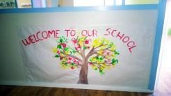 Benvinguts a la nostra escola! MURAL DE BENVINGUDA