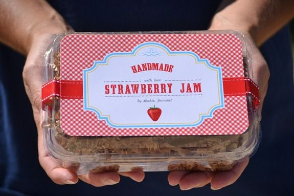 strawberry jam label (5)