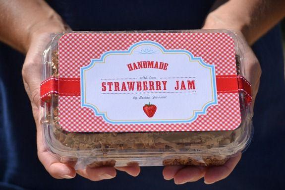 strawberry jam label (5)