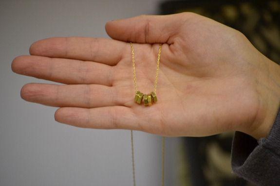 brass nut necklace