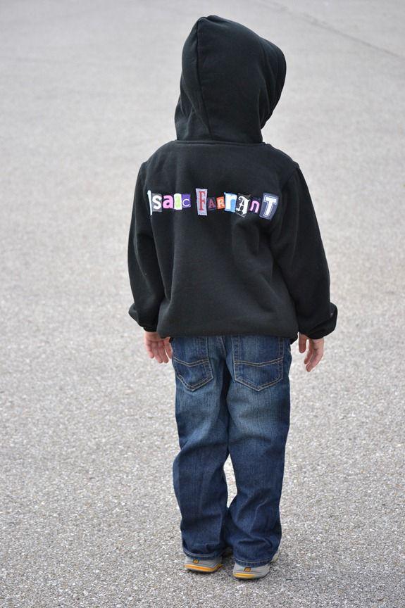 custom personalized hoodie