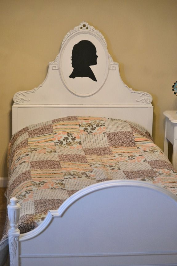 antique waterfall bed p