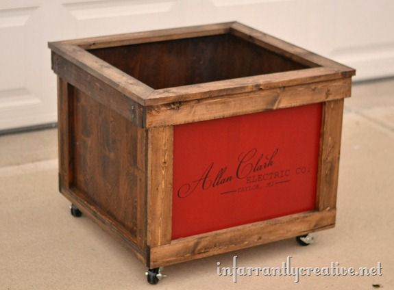 rustic toy box