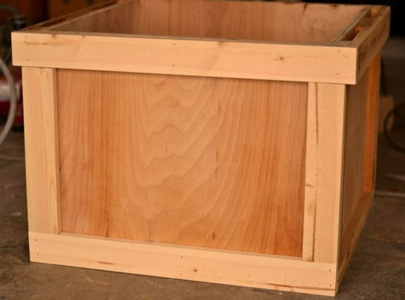 shipping crate framed